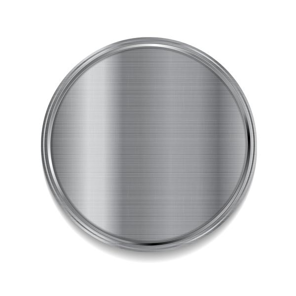 metal cercle blanc
