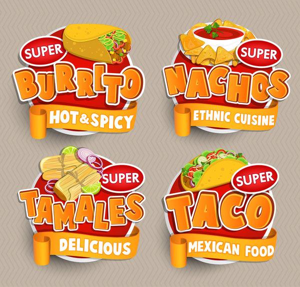 sticker messicano etichette cibo