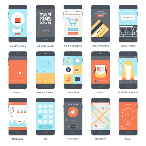 Mobil gränssnitt app