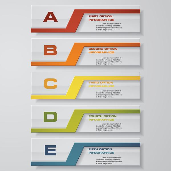 紙 モダン バナー インフィグラフィ