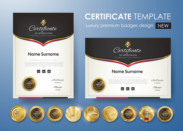 moderno golden distintivo certificato