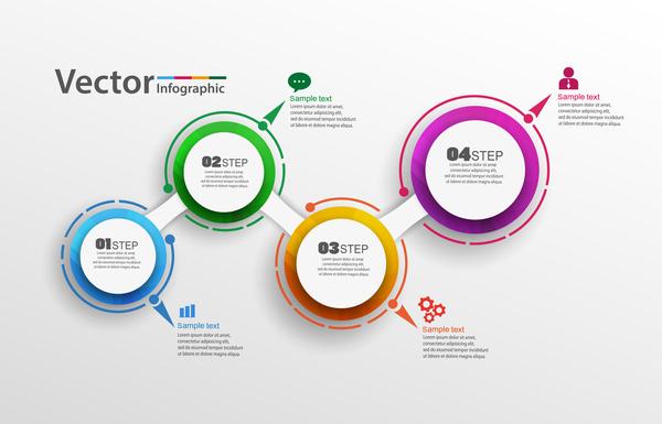 moderno infografica Cerchi