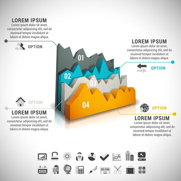 moderne Infografik design business
