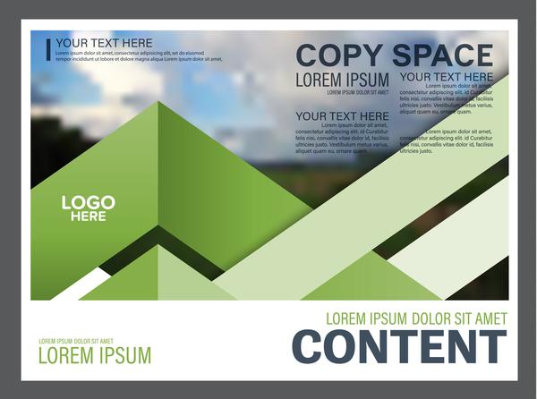 stile modern grün flyer Broschüre