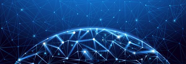 tech Netzwerk modern global
