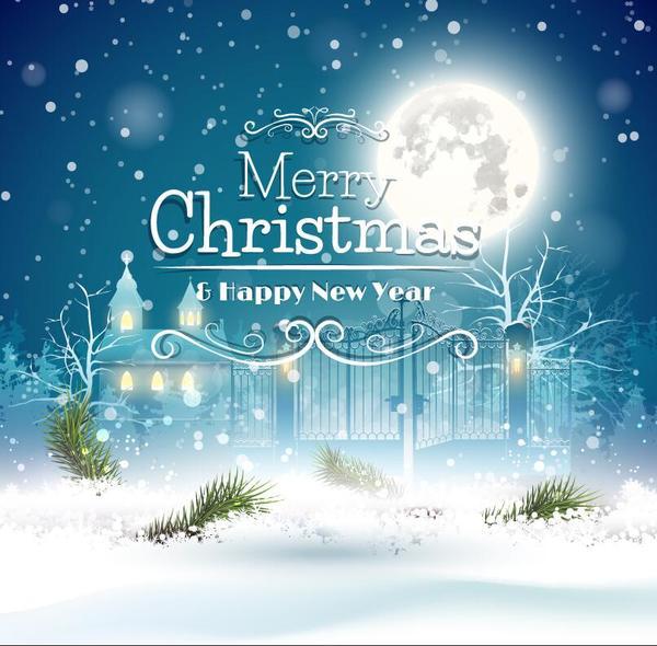 Nuovo Natale luna anno