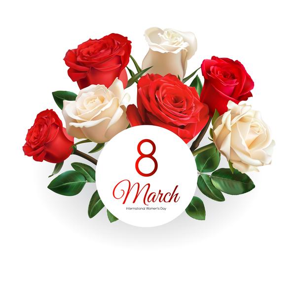 rosso Rosa giorno festa della mamma carta