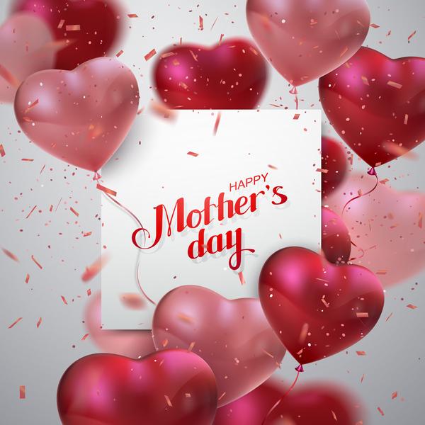 palloncini giorno forma festa della mamma cuore carta