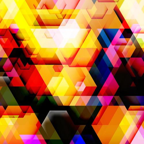 multicolor Geometrisk former