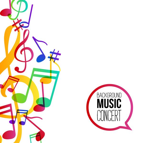 note Musicbackground musical colorato