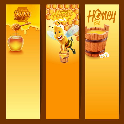 Natur honung banners