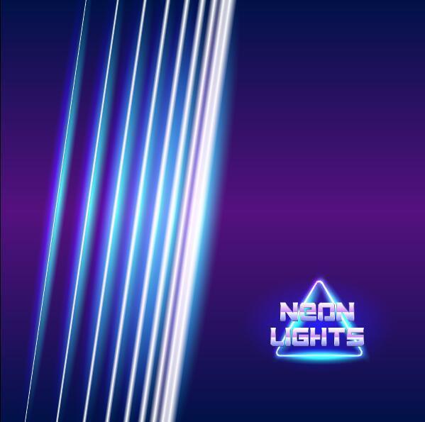 néons lampes brillant