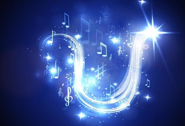 、ライン、音楽、ネオン