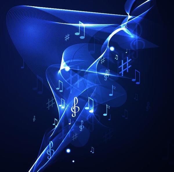 néon de ligne musique