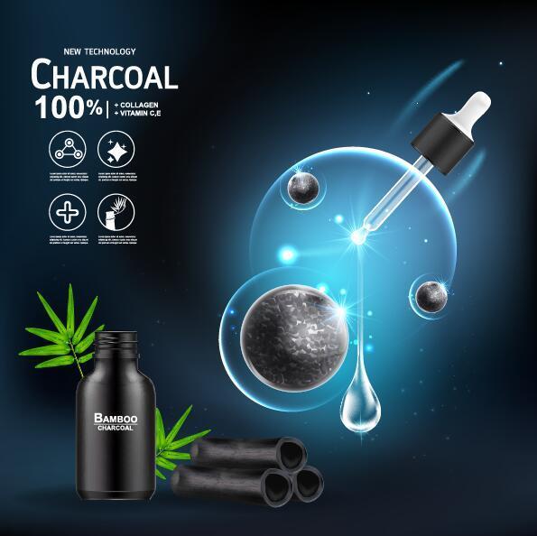 tech prodotti cosmetici poster Nuovo carbone