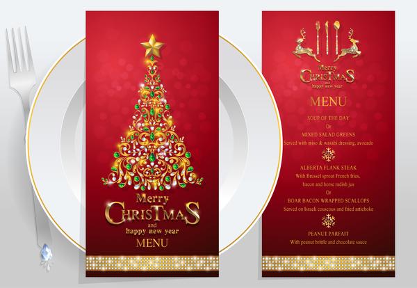 Weihnachten restaurant Neu menu Jahr