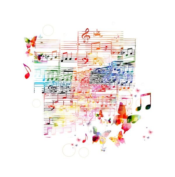Note di farfalle musica