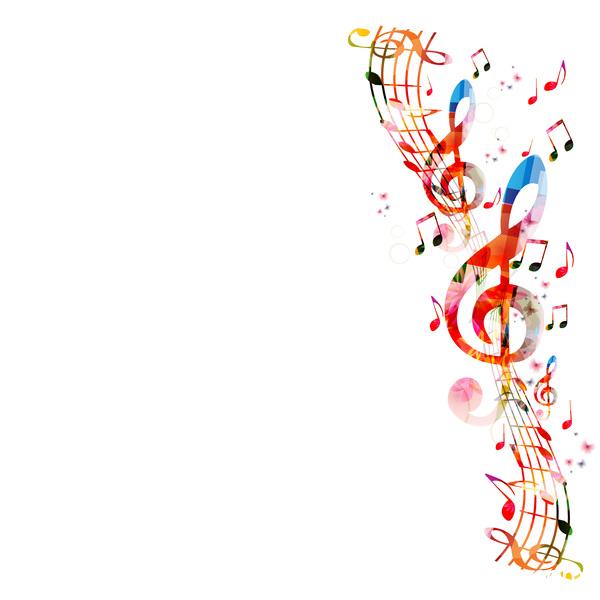 Notes de musique les papillons