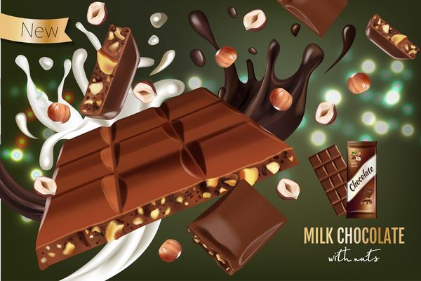 Schokolade poster Nüsse