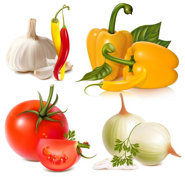 vitlök tomat paprika lök