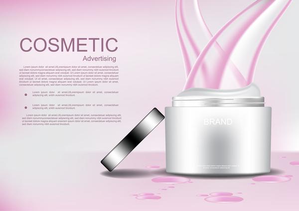 Rosa öppnade linjer kosmetiska grädde Abstrakt