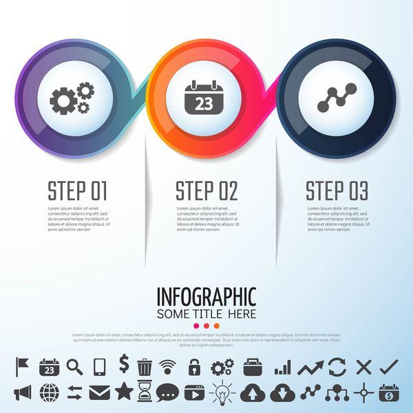 opzione infografica cerchio banner