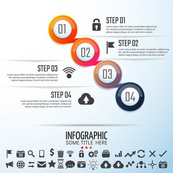 Option infographie cercle Bannière