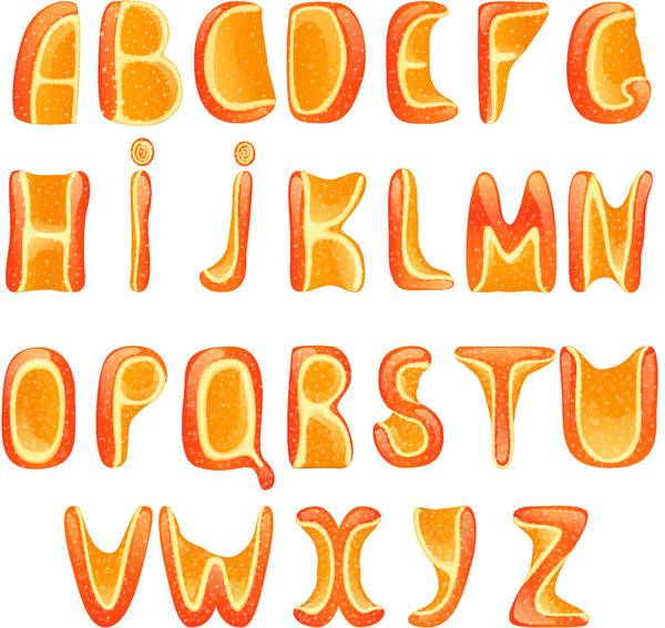 オレンジ アルファベット