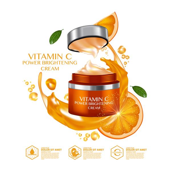 reklam orange kosmetiska affisch