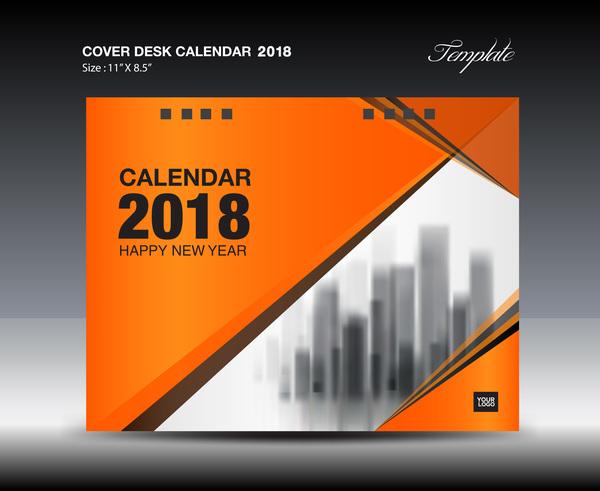デスク カバー オレンジ 、2018 年カレンダー