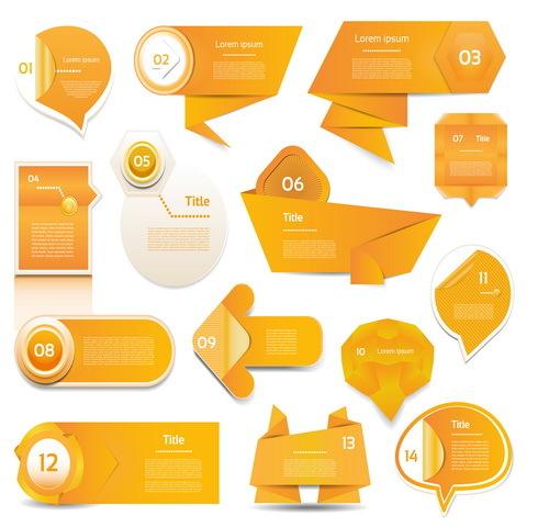 origami Orange bannières