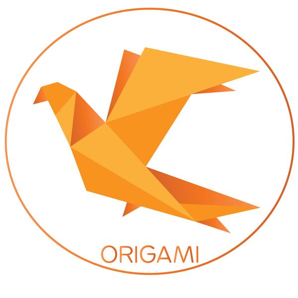origami orange bird