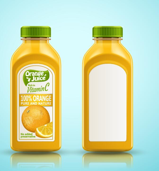 自然 純粋な 包装 オレンジ 、びん、ジュース