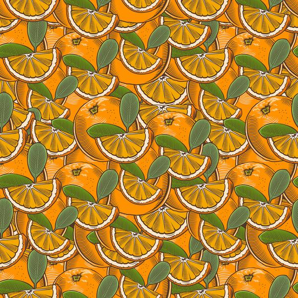 senza soluzione di continuità mano disegnato arancione