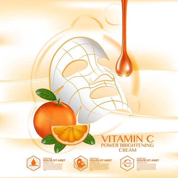 vård reklam orange mask hud affisch