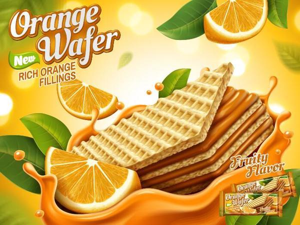 Wafer poster orange