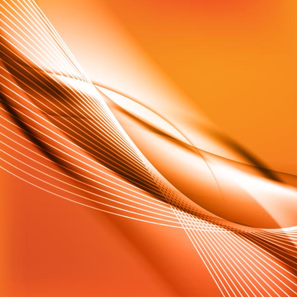 、オレンジ、波状