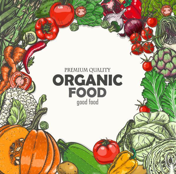Vagetable struttura retro carattere organico