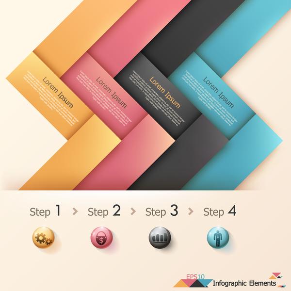 、インフォ グラフィック、オプション、折り紙