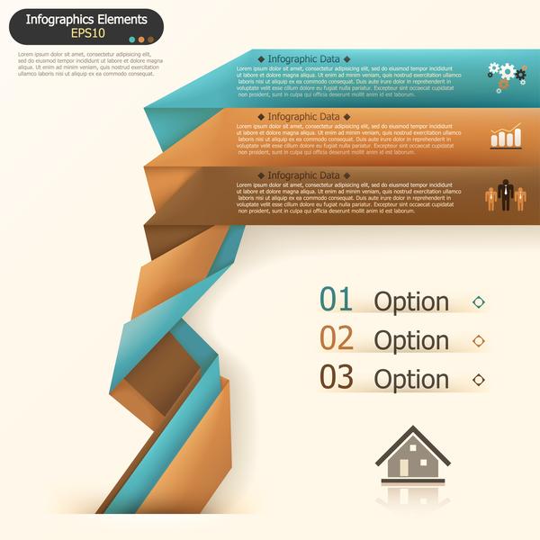 origami opzioni infografica