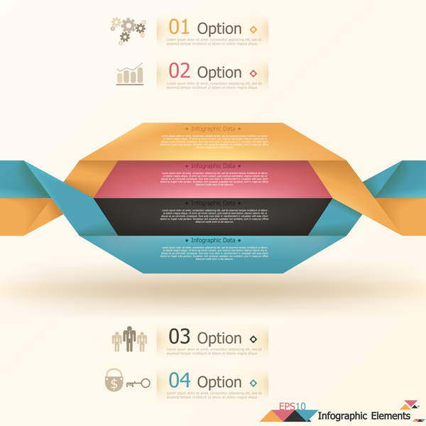 origami options infographic