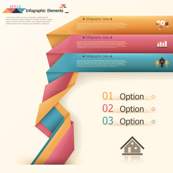 origami options infographie