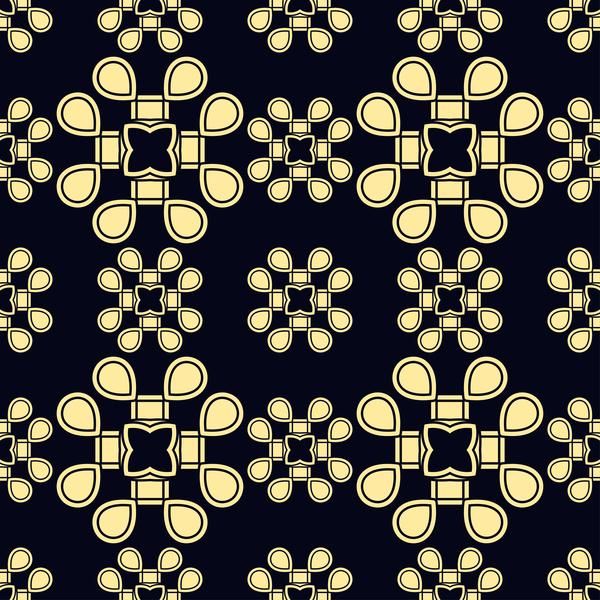 vintage ornament nahtlose Muster golden