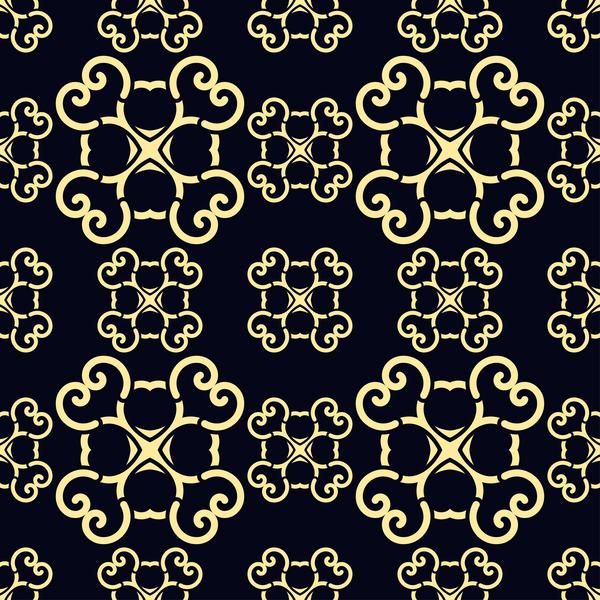 パターンは、シームレスな、ヴィンテージ 、ゴールデン、飾り