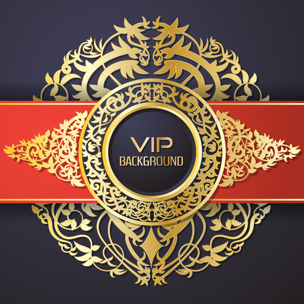 vip Svart rod ornate