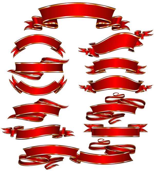 verziert rot banner band