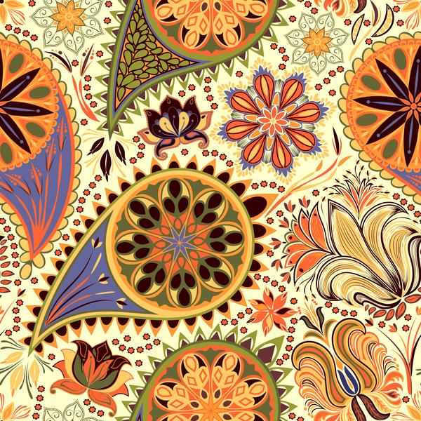 reich verzierten paisley nahtlose Muster