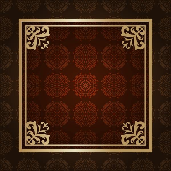 vintage verziert Rahmen Muster deco