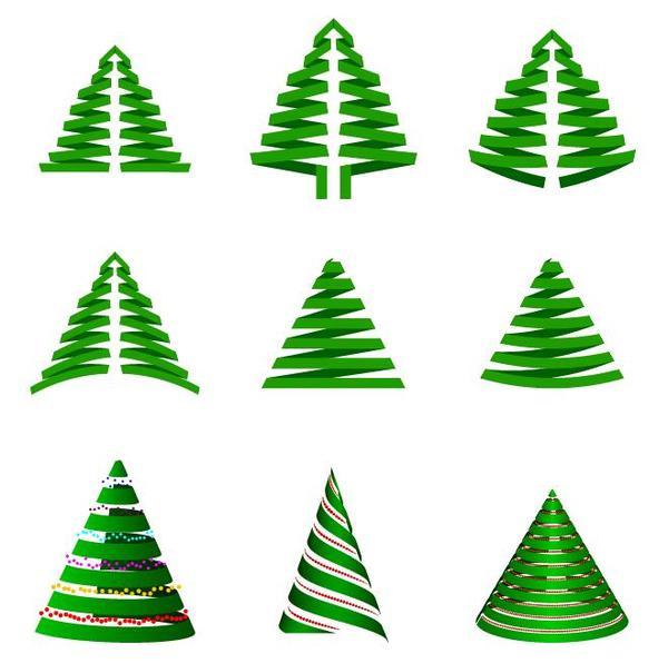 träd papper jul cut