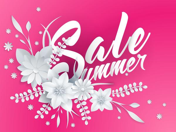 sommar skärning papper försäljning Blomma